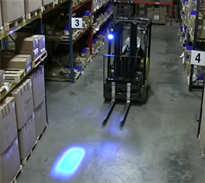 Blue Warning Forklift Safety Light